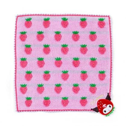 〔小禮堂〕酷洛米 純棉無捻紗小方巾《紫》23x23cm.手帕.草莓年代系列