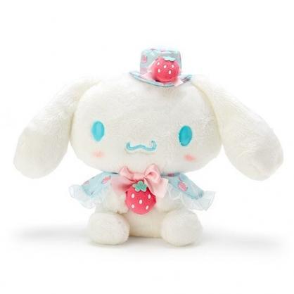 〔小禮堂〕大耳狗 絨毛玩偶娃娃《S.藍白》擺飾.玩具.草莓年代系列