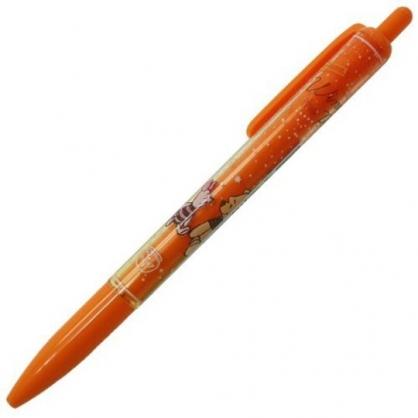 〔小禮堂〕迪士尼 小熊維尼 日製自動鉛筆《橘.對看》0.5mm.SUNSTAR系列