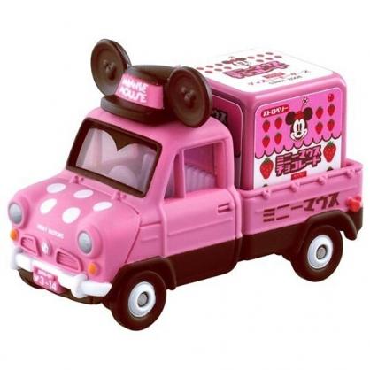 〔小禮堂〕迪士尼 米妮 TOMICA小汽車 造型巧克力貨車《粉棕》公仔.玩具.模型