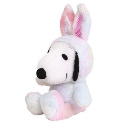 〔小禮堂〕史努比 復活節絨毛玩偶娃娃《M.白彩.兔裝》擺飾.玩具