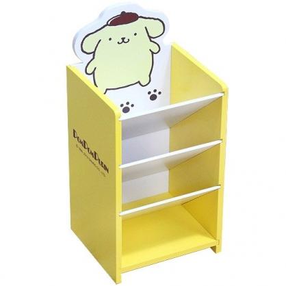 〔小禮堂〕布丁狗 桌上型木製直式四層斜口收納盒《黃》置物盒.筆筒.刷具筒