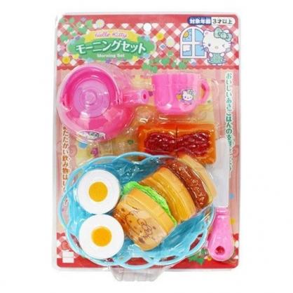 〔小禮堂〕Hello Kitty 下午茶吐司套餐玩具組《桃藍.泡殼裝》兒童玩具.扮家家酒