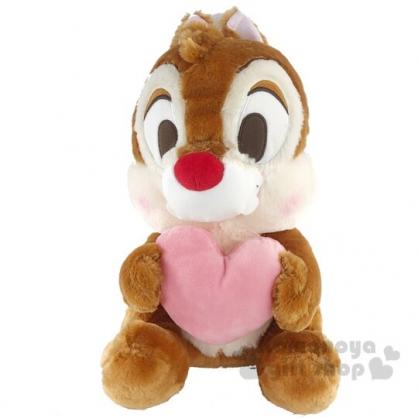 〔小禮堂〕蒂蒂 絨毛玩偶娃娃《L.淡棕.抱愛心》擺飾.玩具