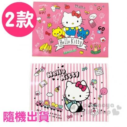 〔小禮堂〕Hello Kitty 騎馬釘上翻貼紙收集本《2款隨機.桃/粉》貼紙簿.黏貼本