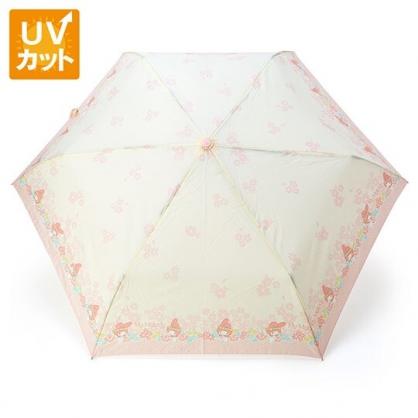 〔小禮堂〕美樂蒂 抗UV折疊雨陽傘《粉米.花朵》折傘.雨傘.雨具