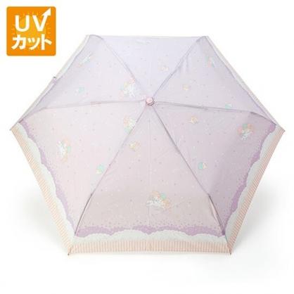 〔小禮堂〕雙子星 抗UV折疊雨陽傘《紫粉.獨角獸》折傘.雨傘.雨具