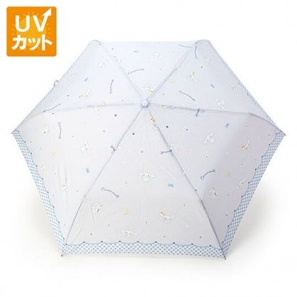 〔小禮堂〕大耳狗 抗UV折疊雨陽傘《藍白.抱星星》折傘.雨傘.雨具