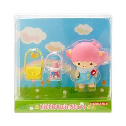 〔小禮堂〕雙子星LALA 迷你塑膠玩偶娃娃《粉藍》掌上公仔.擺飾.復古學園系列