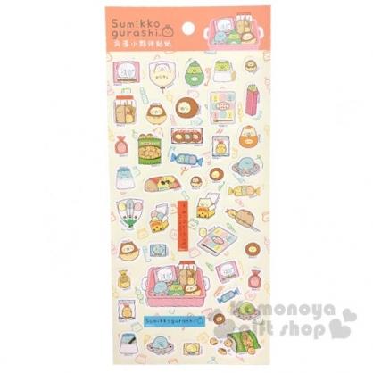 〔小禮堂〕角落生物 造型燙金貼紙組《橘金.零食盒》手帳貼紙.裝飾貼.黏貼用品