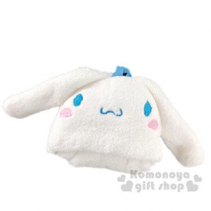 〔小禮堂〕大耳狗 大臉造型可掛式純棉割絨擦手巾《白》30x30cm.毛巾