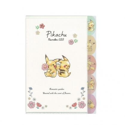 〔小禮堂〕神奇寶貝Pokemon皮卡丘 日製L型分類文件夾《A4.米粉.拿花》資料夾.L夾.檔案夾