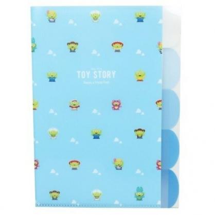 〔小禮堂〕迪士尼 三眼怪 日製L型分類文件夾《A4.藍綠.雲朵》資料夾.L夾.檔案夾