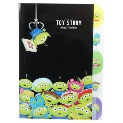 〔小禮堂〕迪士尼 三眼怪 日製L型分類文件夾《A4.綠黑.夾娃娃》資料夾.L夾.檔案夾