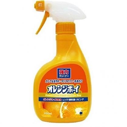〔小禮堂〕日本第一石鹼 日製強力噴霧泡沫清潔劑《橘》400ml.橘子香.去汙劑.除菌劑