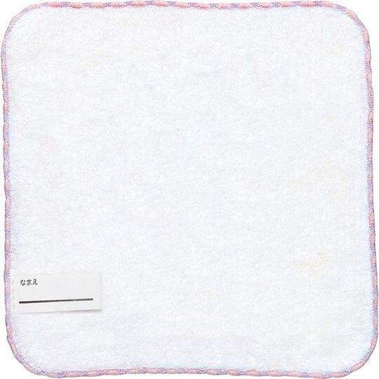 〔小禮堂〕懶懶熊 拉拉熊 純棉割絨圓角小方巾《粉藍.吊帶褲》21x21cm.手帕.毛巾