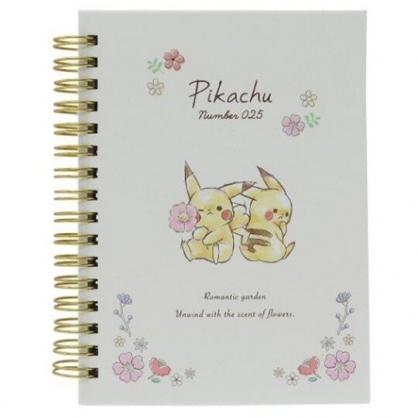 〔小禮堂〕神奇寶貝Pokemon皮卡丘 左翻線圈橫線筆記本《米粉.拿花》記事本.手札