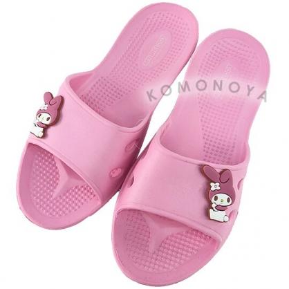 〔小禮堂〕美樂蒂 極輕防滑塑膠拖鞋《粉.側坐》室內拖鞋.浴室拖鞋