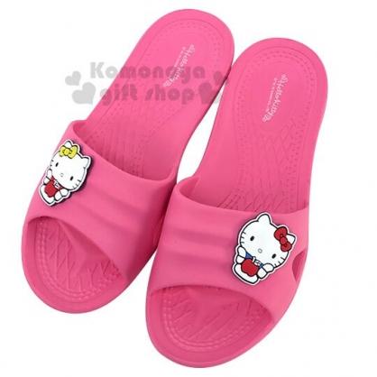 〔小禮堂〕Hello Kitty 極輕防滑塑膠拖鞋《桃.蘋果》室內拖鞋.浴室拖鞋