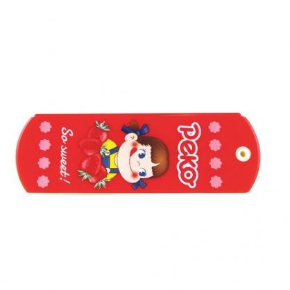 〔小禮堂〕不二家PEKO 塑膠折疊隨身鏡梳組《紅.草莓》隨身鏡.隨身梳