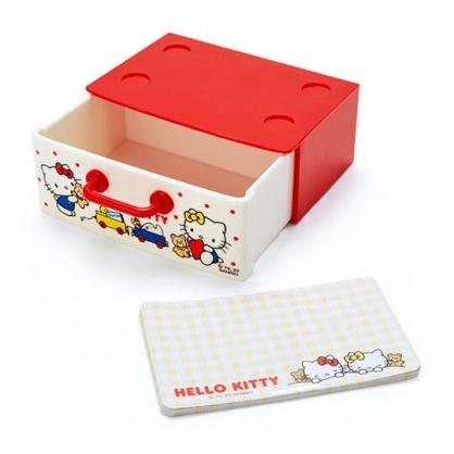 〔小禮堂〕Hello Kitty 迷你抽屜盒裝便條紙《米紅》留言紙.名片盒