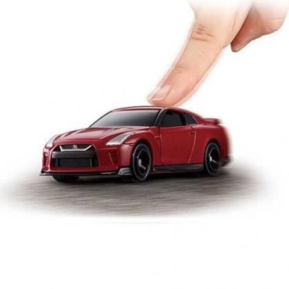 〔小禮堂〕TOMICA小汽車 NISSAN電動GT-R跑車《01.紅》公仔.玩具.模型