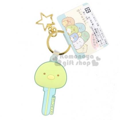 〔小禮堂〕角落生物 企鵝 大臉鑰匙造型矽膠鑰匙圈《綠》掛飾.吊飾.鎖圈