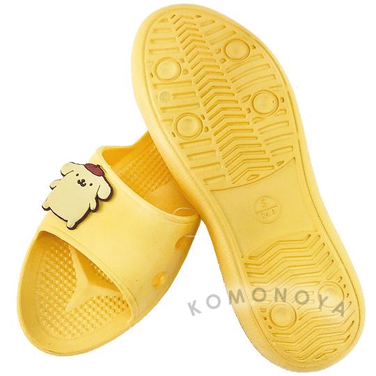 〔小禮堂〕布丁狗 極輕防滑塑膠拖鞋《黃.站姿》室內拖鞋.浴室拖鞋