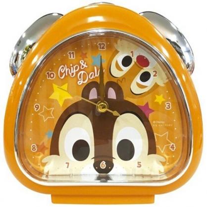 〔小禮堂〕迪士尼 奇奇蒂蒂 三角形鬧鐘《橘棕.大臉》桌鐘.時鐘