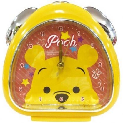 〔小禮堂〕迪士尼 小熊維尼 三角形鬧鐘《黃粉.大臉》桌鐘.時鐘