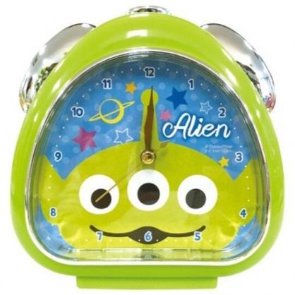 〔小禮堂〕迪士尼 三眼怪 三角形鬧鐘《藍綠.大臉》桌鐘.時鐘