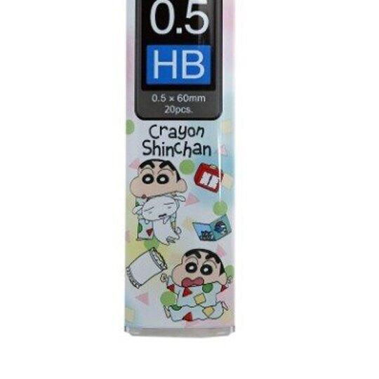 〔小禮堂〕蠟筆小新 日製盒裝自動鉛筆筆芯《綠白.睡衣》0.5mm.HB筆芯.學童文具