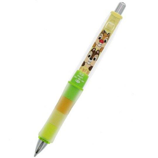 〔小禮堂〕迪士尼 奇奇蒂蒂 日製搖搖自動鉛筆《綠黃.摸臉》0.5mm.搖搖筆.Dr.Grip減壓系列