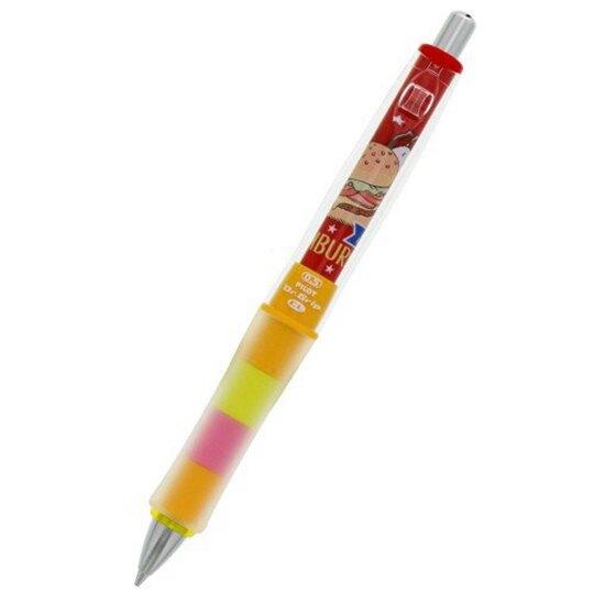 〔小禮堂〕史努比 日製搖搖自動鉛筆《橘藍.漢堡》0.5mm.搖搖筆.Dr.Grip減壓系列