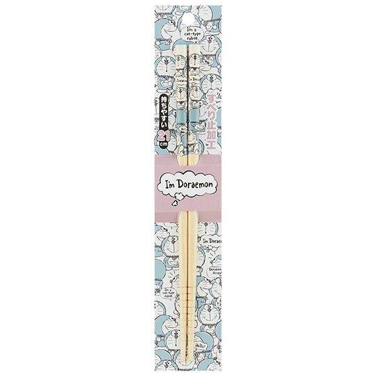 〔小禮堂〕哆啦A夢 天然木筷子《灰藍.全身滿版》21cm.環保筷.竹筷
