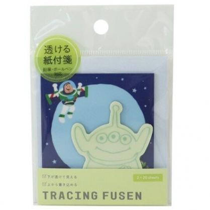 〔小禮堂〕迪士尼 三眼怪 日製造型透明自黏便利貼《綠藍.外太空》N次貼.書籤貼.標籤貼