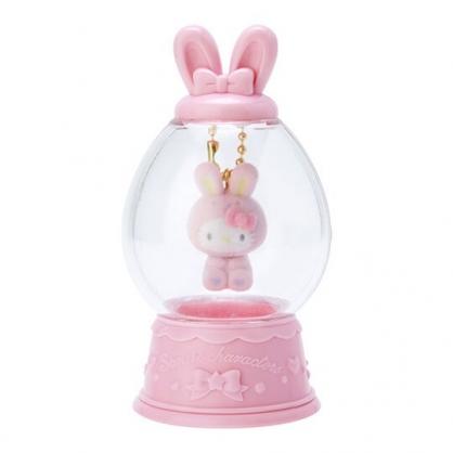 〔小禮堂〕Hello Kitty 水晶球造型植絨玩偶娃娃吊飾《粉》掛飾.鑰匙圈.2020復活節系列