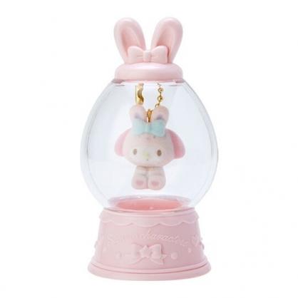 〔小禮堂〕美樂蒂 水晶球造型植絨玩偶娃娃吊飾《粉》掛飾.鑰匙圈.2020復活節系列