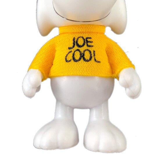 〔小禮堂〕史努比 全身造型塑膠鑰匙圈《白黃.戴墨鏡》掛飾.吊飾.鎖圈