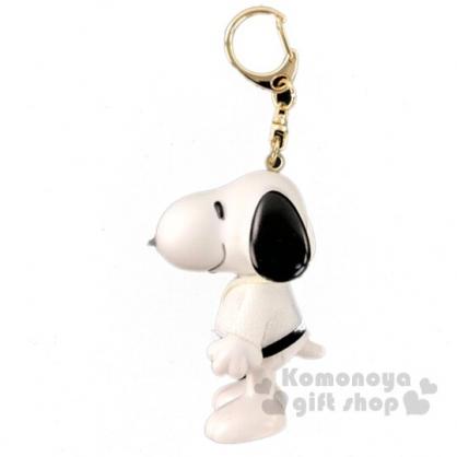 〔小禮堂〕史努比 全身造型塑膠鑰匙圈《白黑.跆拳道》掛飾.吊飾.鎖圈
