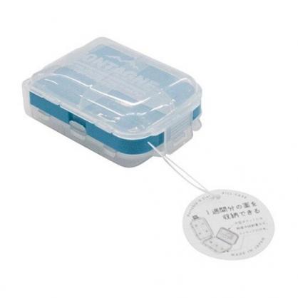 〔小禮堂〕山田化學 日製方形塑膠八格藥盒《綠白》收納盒.OK蹦盒