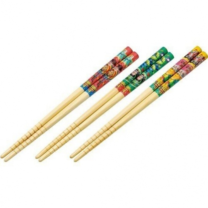 〔小禮堂〕迪士尼 玩具總動員4 天然木筷子組《3入.藍.角色》16.5cm.竹筷.環保筷.環保餐具