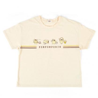 〔小禮堂〕布丁狗 休閒棉質圓領短袖上衣《黃棕.運動》T恤.短T.T-shirt