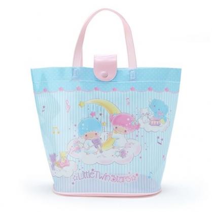 小禮堂 雙子星 透明海灘袋 游泳袋 水桶袋 防水提袋 泳具袋 (藍粉 2020夏日特輯)