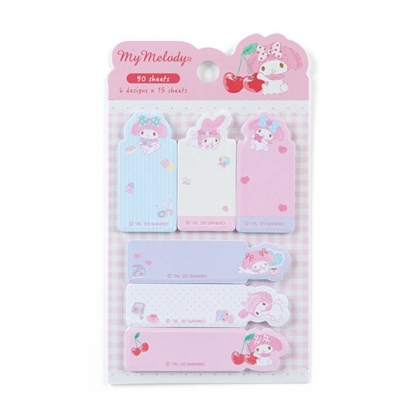 小禮堂 美樂蒂 日製造型自黏標籤 便利貼 N次貼 書籤貼 標籤貼 便條紙 (粉 櫻桃)