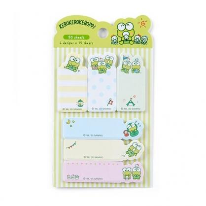小禮堂 大眼蛙 日製造型自黏標籤 便利貼 N次貼 書籤貼 標籤貼 便條紙 (綠 飯糰)