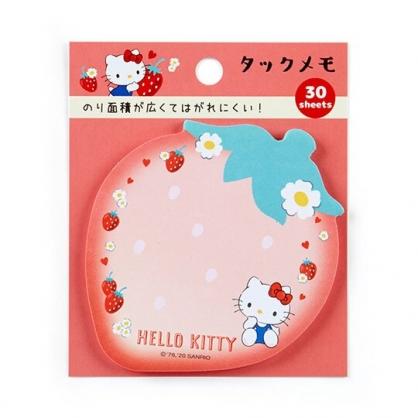 小禮堂 Hello Kitty 日製造型自黏便箋 便利貼 N次貼 書籤貼 標籤貼 便條紙 (紅 草莓)