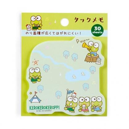 小禮堂 大眼蛙 日製造型自黏便箋 便利貼 N次貼 書籤貼 標籤貼 便條紙 (綠 旗子)