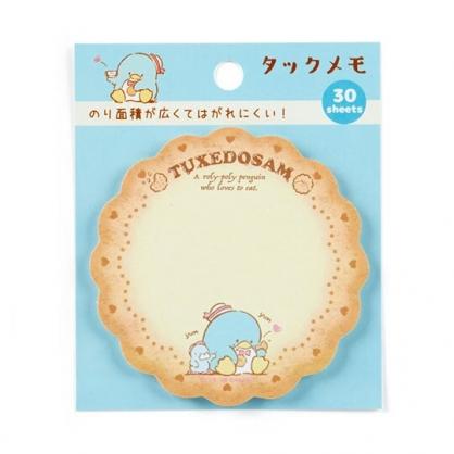 小禮堂 山姆企鵝 日製造型自黏便箋 便利貼 N次貼 書籤貼 標籤貼 便條紙 (棕 餅乾)
