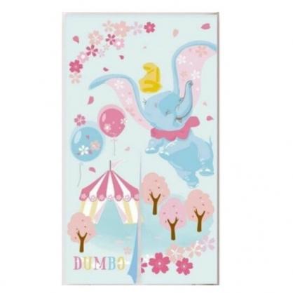 小禮堂 迪士尼 小飛象DUMBO 棉麻長門簾 遮光簾 布簾 窗簾 85x150cm(藍粉 櫻花)